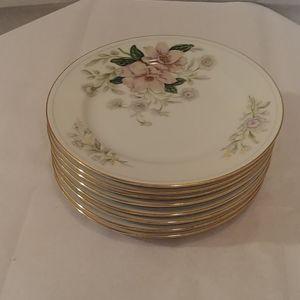 SOLD* 8 Vtg Grace China Rochelle Dessert Plates